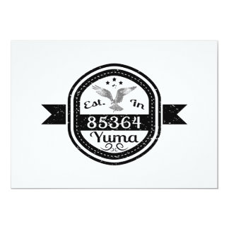 Established In 85364 Yuma Card