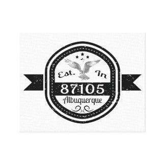 Established In 87105 Albuquerque Canvas Print