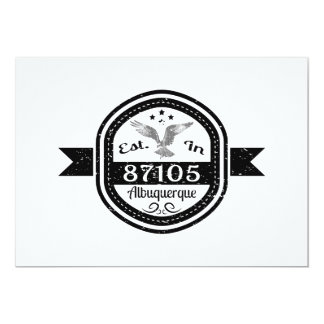 Established In 87105 Albuquerque Card