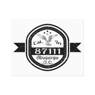 Established In 87111 Albuquerque Canvas Print
