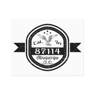 Established In 87114 Albuquerque Canvas Print