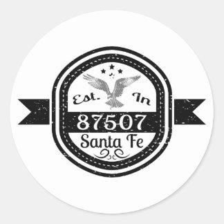 Established In 87507 Santa Fe Classic Round Sticker