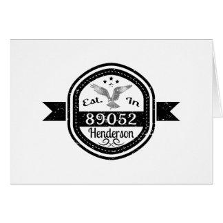 Established In 89052 Henderson Card