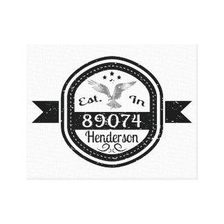 Established In 89074 Henderson Canvas Print