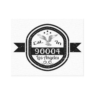 Established In 90004 Los Angeles Canvas Print