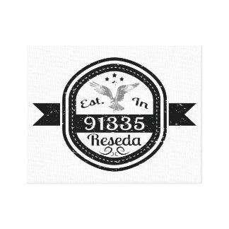 Established In 91335 Reseda Canvas Print