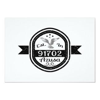 Established In 91702 Azusa Card
