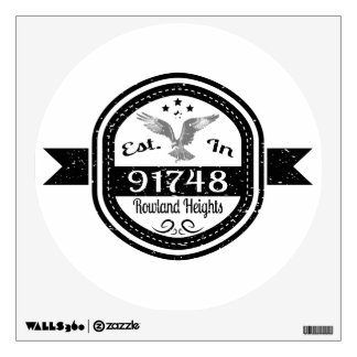 Established In 91748 Rowland Heights Wall Sticker