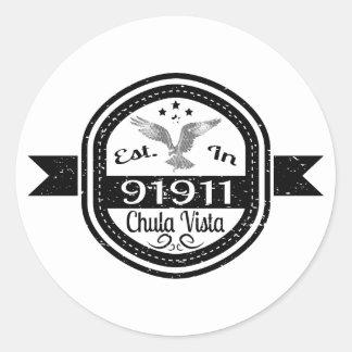 Established In 91911 Chula Vista Classic Round Sticker