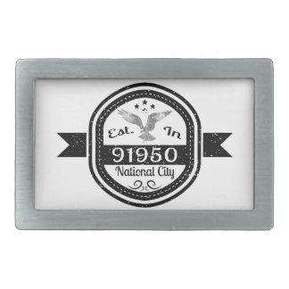 Established In 91950 National City Belt Buckles
