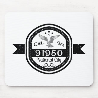 Established In 91950 National City Mouse Pad