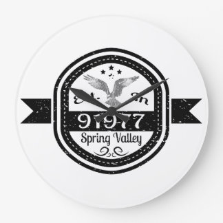 Established In 91977 Spring Valley Large Clock