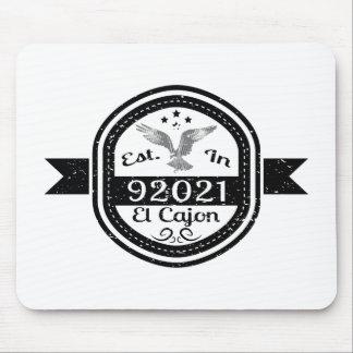 Established In 92021 El Cajon Mouse Pad