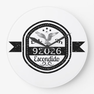 Established In 92026 Escondido Large Clock