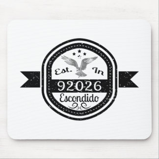 Established In 92026 Escondido Mouse Pad