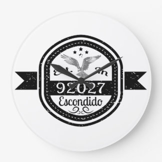 Established In 92027 Escondido Large Clock