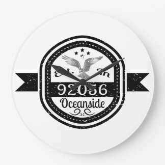 Established In 92056 Oceanside Large Clock