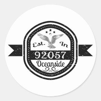 Established In 92057 Oceanside Classic Round Sticker