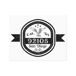 Established In 92105 San Diego Canvas Print