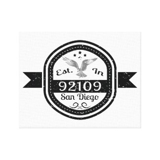 Established In 92109 San Diego Canvas Print