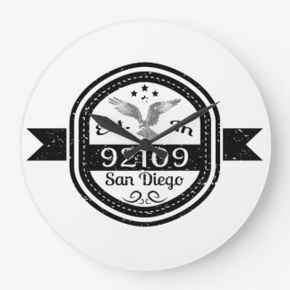 Established In 92109 San Diego Large Clock