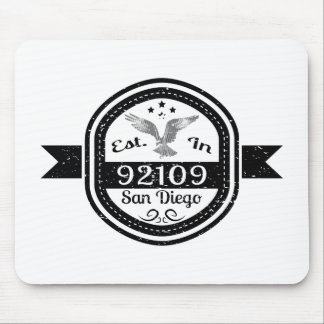 Established In 92109 San Diego Mouse Pad