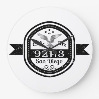 Established In 92113 San Diego Large Clock