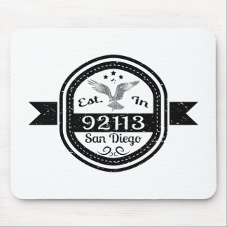 Established In 92113 San Diego Mouse Pad