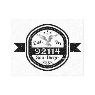 Established In 92114 San Diego Canvas Print