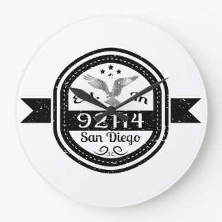 Established In 92114 San Diego Large Clock