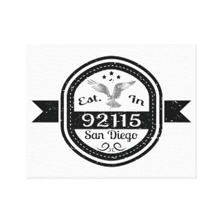 Established In 92115 San Diego Canvas Print