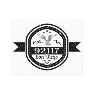 Established In 92117 San Diego Canvas Print