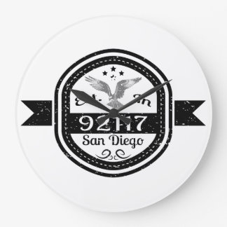 Established In 92117 San Diego Large Clock