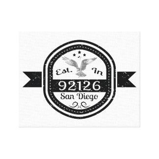 Established In 92126 San Diego Canvas Print