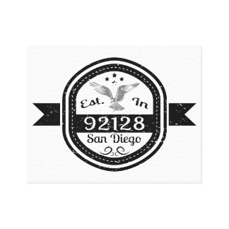 Established In 92128 San Diego Canvas Print