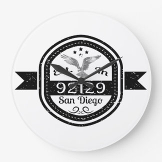 Established In 92129 San Diego Large Clock