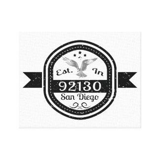 Established In 92130 San Diego Canvas Print