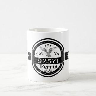 Established In 92571 Perris Coffee Mug