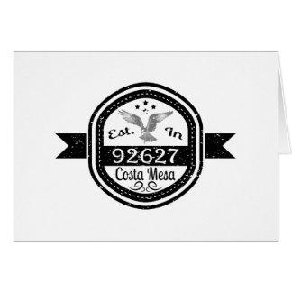 Established In 92627 Costa Mesa Card