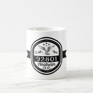 Established In 92801 Anaheim Coffee Mug