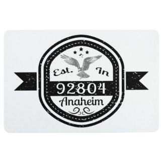 Established In 92804 Anaheim Floor Mat