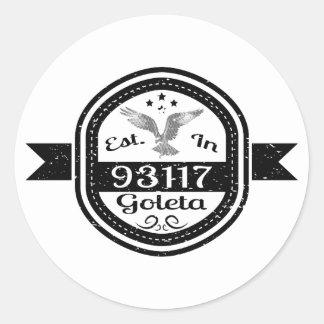 Established In 93117 Goleta Round Sticker