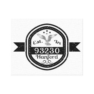 Established In 93230 Hanford Canvas Print