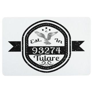 Established In 93274 Tulare Floor Mat