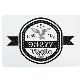 Established In 93277 Visalia Floor Mat