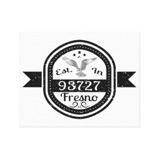 Established In 93727 Fresno Canvas Print