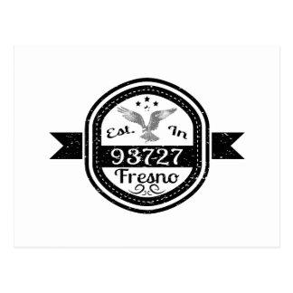 Established In 93727 Fresno Postcard