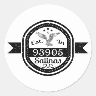 Established In 93905 Salinas Classic Round Sticker