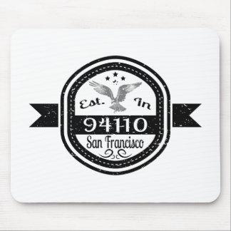Established In 94110 San Francisco Mouse Pad