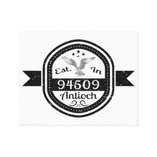 Established In 94509 Antioch Canvas Print